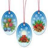 Christmas tags Stock Photos