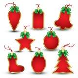 Christmas tags Stock Images