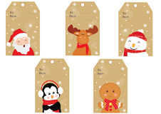 Christmas tags Stock Photo