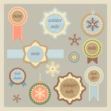 Christmas tags and stickers Royalty Free Stock Photography