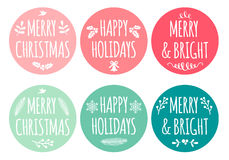 Christmas tags, vector set Stock Photography