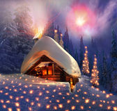 Christmas Tale for climbers Stock Images
