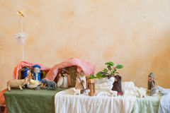 The christmas tale with a nativity scene. Royalty Free Stock Photo