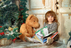 Christmas tale for taddy bears Stock Images