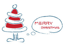 Christmas talking tree Royalty Free Stock Photo
