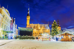 Christmas in Tallinn. Christmas Fair at Town Hall Square stock photography