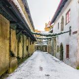 Christmas in Tallinn. St. Catherine`s Passage Stock Photo