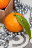 Christmas tangerine Royalty Free Stock Photo