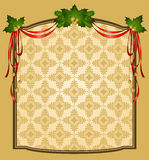 Christmas tapestry background. Vintage Christmas tapestry background. illustration for a design Royalty Free Stock Photos