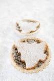 Christmas  tart with marzipan tree Stock Images