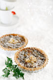 Christmas  tart with mincemeat and candied peel Royalty Free Stock Photo