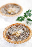 Christmas  tart with mincemeat and candied peel Royalty Free Stock Photography