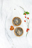 Christmas  tart with mincemeat and candied peel Royalty Free Stock Image