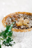 Christmas  tart with mincemeat and candied peel Stock Photo