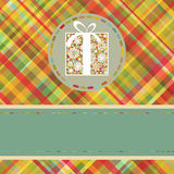 Christmas tartan background. EPS 8 Stock Photography