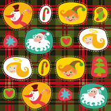 Christmas tartan, plaid pattern background Royalty Free Stock Photo