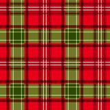 Christmas tartan. Seamless pattern. Royalty Free Stock Images