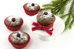 Christmas tasty muffins in paper form Stock Images