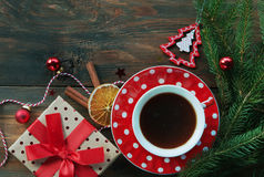 Christmas tea background Stock Image