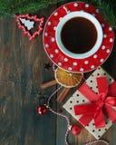 Christmas tea background Stock Photo