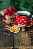 Christmas tea cup Stock Photos