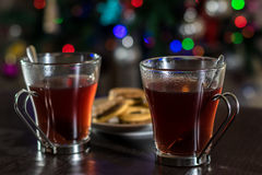 Christmas tea Stock Images