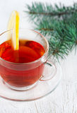 Christmas tea with lemon Royalty Free Stock Images