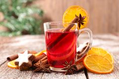 Christmas tea. Or mulled wine royalty free stock images
