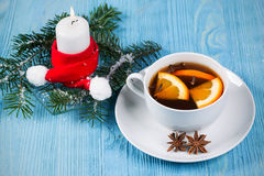 Christmas tea with orange and cloves Stock Images