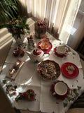 Christmas Tea Party Stock Photos