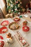 Christmas Tea Party Stock Photography