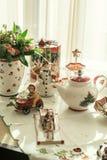Christmas Tea Party Stock Photo