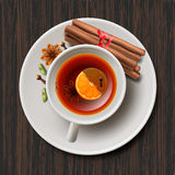 Christmas tea with spices, aromatic mulled wine Stock Photos