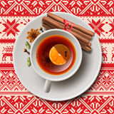 Christmas tea with spices, aromatic mulled wine Royalty Free Stock Photo