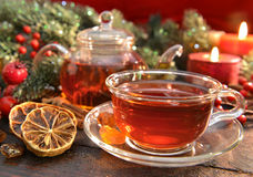 Christmas Tea With Spices, Close Up Stock Photography