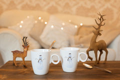 Christmas Teabreak Stock Photos