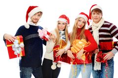 Christmas team Royalty Free Stock Image