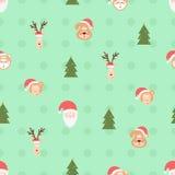 Christmas team pattern Stock Photos