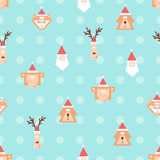 Christmas team pattern 2 Stock Photography
