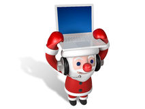 Christmas technology of 3d santa Stock Photo