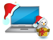 Christmas technology present Stock Images