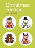 Christmas Teddies Stock Photography