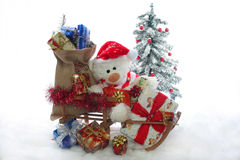 Christmas Teddy Stock Image