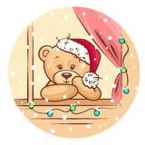 Christmas teddy Royalty Free Stock Photos
