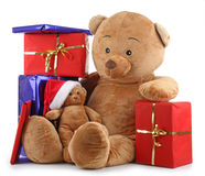 Christmas teddy bear Stock Image