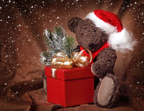 Free Christmas Teddy Bear Stock Image - 17154161