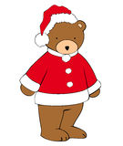 Christmas teddy-bear. Royalty Free Stock Photo