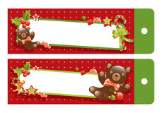 Christmas teddy bear Royalty Free Stock Photos