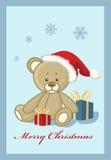 Christmas teddy bear. Vector illustration depicting a Christmas teddy bear Stock Image