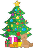 Christmas Teddy Bear Stock Photo